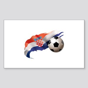 Croatia Soccer Sticker (Rectangle)