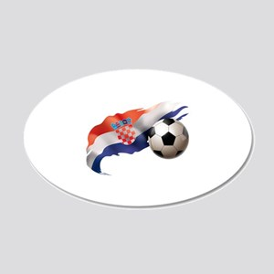 Croatia Soccer 22x14 Oval Wall Peel