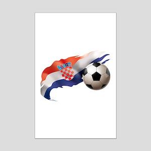 Croatia Soccer Mini Poster Print
