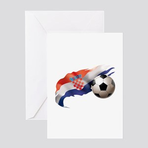 Croatia Soccer Greeting Card