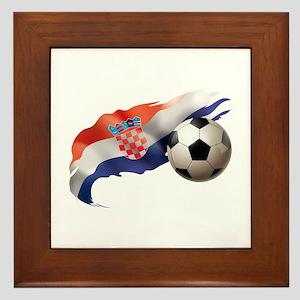 Croatia Soccer Framed Tile