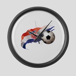 Croatia Soccer Large Wall Clock