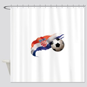 Croatia Soccer Shower Curtain