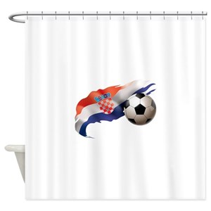 Europe Soccer Shower Curtains