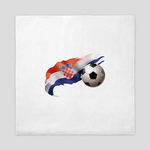 Croatia Soccer Queen Duvet