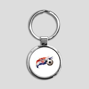 Croatia Soccer Round Keychain