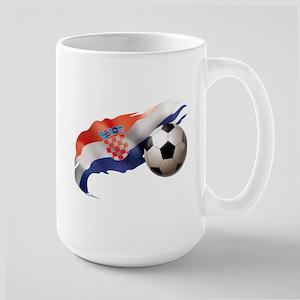 Croatia Soccer Large Mug