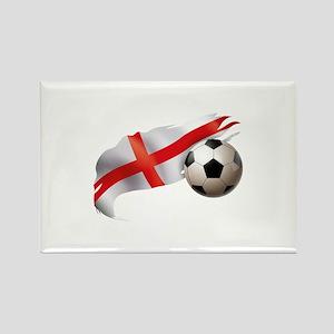 England Soccer Rectangle Magnet
