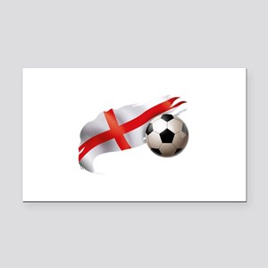 England Soccer Rectangle Car Magnet
