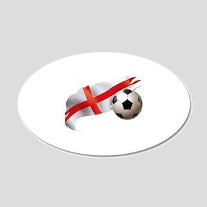 England Soccer 22x14 Oval Wall Peel