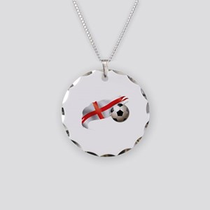England Soccer Necklace Circle Charm