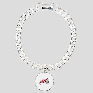England Soccer Charm Bracelet, One Charm