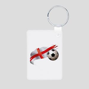 England Soccer Aluminum Photo Keychain