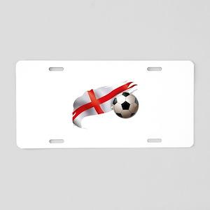England Soccer Aluminum License Plate