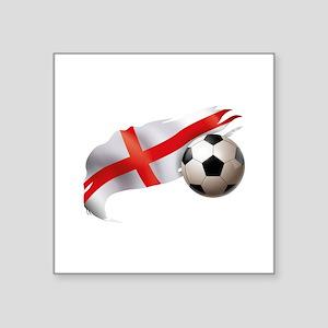 """England Soccer Square Sticker 3"""" x 3"""""""