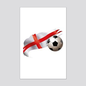 England Soccer Mini Poster Print