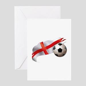 England Soccer Greeting Card