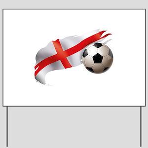 England Soccer Yard Sign
