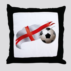 England Soccer Throw Pillow