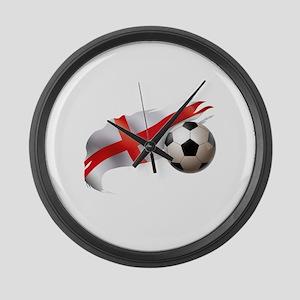 England Soccer Large Wall Clock
