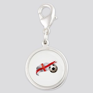 England Soccer Silver Round Charm