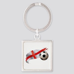 England Soccer Square Keychain