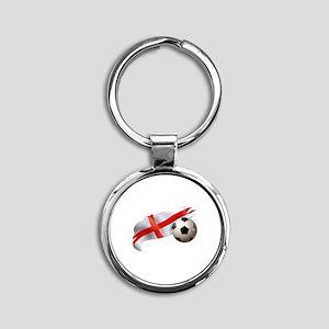 England Soccer Round Keychain