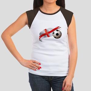 England Soccer Women's Cap Sleeve T-Shirt