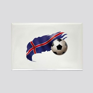 Iceland Soccer Rectangle Magnet