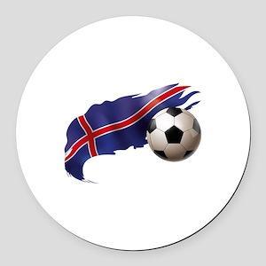 Iceland Soccer Round Car Magnet