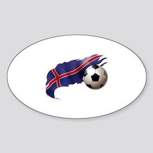 Iceland Soccer Sticker (Oval)