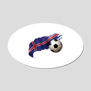 Iceland Soccer 22x14 Oval Wall Peel