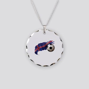 Iceland Soccer Necklace Circle Charm