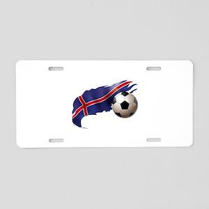 Iceland Soccer Aluminum License Plate
