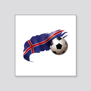 "Iceland Soccer Square Sticker 3"" x 3"""