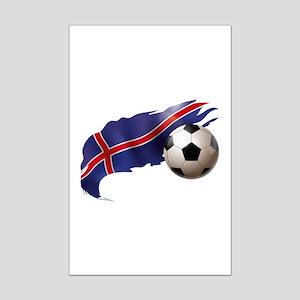 Iceland Soccer Mini Poster Print