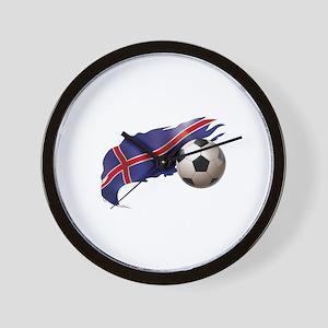 Iceland Soccer Wall Clock