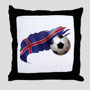 Iceland Soccer Throw Pillow