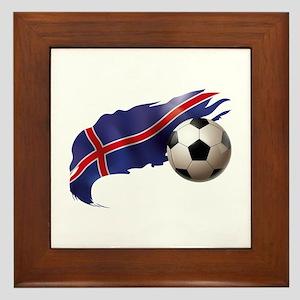 Iceland Soccer Framed Tile