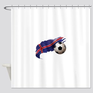 Iceland Soccer Shower Curtain