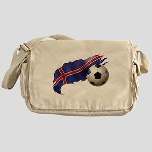 Iceland Soccer Messenger Bag