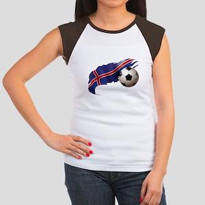 Iceland Soccer Women's Cap Sleeve T-Shirt