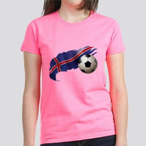 Iceland Soccer Women's Dark T-Shirt