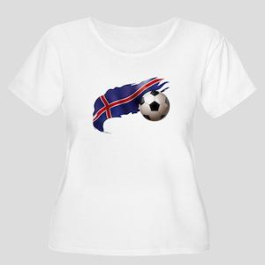 Iceland Soccer Women's Plus Size Scoop Neck T-Shir