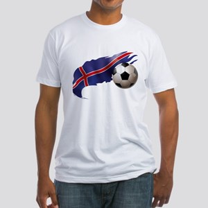 Iceland Soccer Fitted T-Shirt