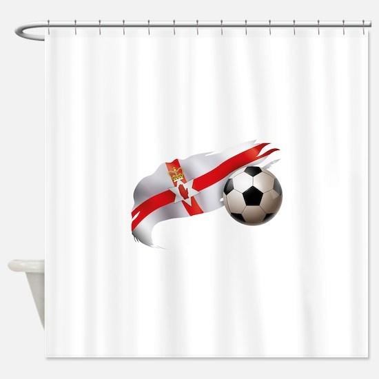 Northern Ireland Soccer Shower Curtain