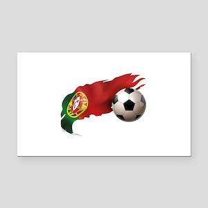 Portugal Soccer Rectangle Car Magnet