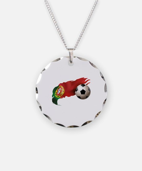Portugal Soccer Necklace