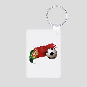 Portugal Soccer Aluminum Photo Keychain