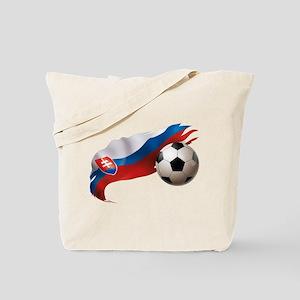 Slovakia Soccer Tote Bag